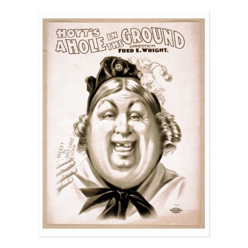 Hoyt's A Hole In The Ground - play c. 1900 Postcard