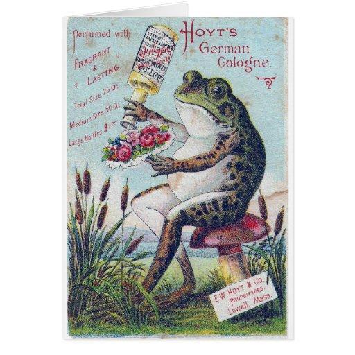 Hoyt's German Cologne Frog Greeting Cards