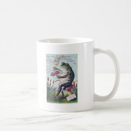 Hoyt's German Cologne Frog Classic White Coffee Mug