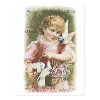 Hoyt's German Cologne, Ladies Perf. Calendar 1894 Postcard