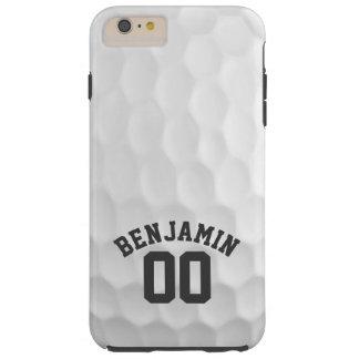 Hoyuelos de la pelota de golf con número conocido funda de iPhone 6 plus tough