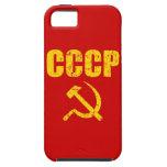 Hoz del martillo de CCCP iPhone 5 Case-Mate Cobertura