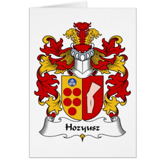 Hozyusz Family Crest Greeting Card