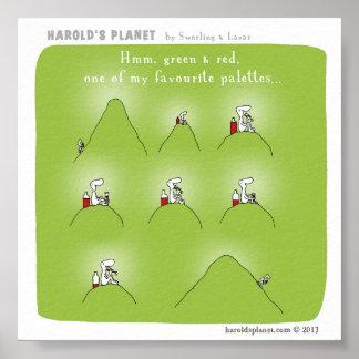 "HP5020 ""Harold's Planet"" Poster"