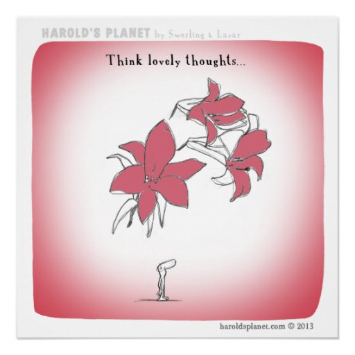 "HP5021 ""Harold's Planet"" ""Think lovely thoughts"" Poster"