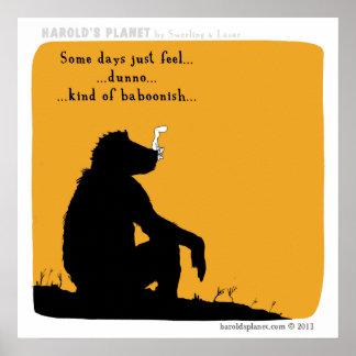 "HP5025 ""harold's planet"" baboonish Poster"