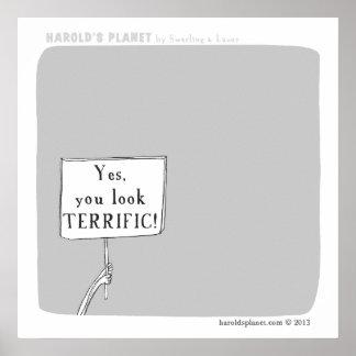 "HP5043 ""harold's planet"" terrific Poster"