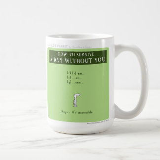 """HP5068 """"harold's planet"""" """"without you"""" Classic White Coffee Mug"""