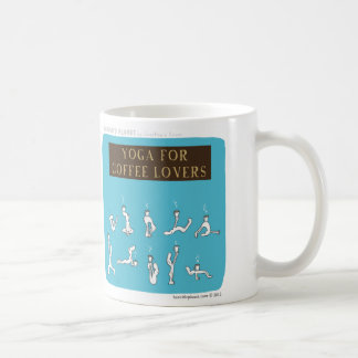 "HP5089 ""Yoga for Coffee Lovers ""Harold's Planet"" Classic White Coffee Mug"