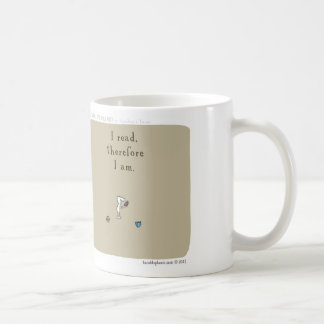 """HP5096 """"harold's planet"""" """"I read therefore I am"""" Mugs"""