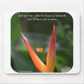 """HP5119, """"Harold's Planet"""" hammock, peace, rest, sl Mouse Pad"""
