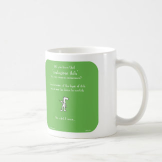 """HP5131, """"Harold's Planet"""", contagious, itch, itchy Coffee Mug"""