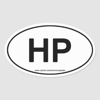 HP HIGHER POWER Oval Sticker