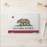 """HP laptop skin with flag of California, USA<br><div class=""""desc"""">Patriotic and elegant HP laptop skin with flag of California State,  United States of America. This product its customizable.</div>"""