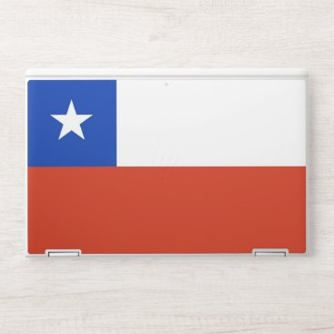 HP laptop skin with flag of Chile
