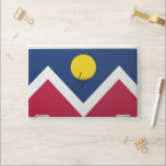 """HP laptop skin with flag of Denver, Colorado, USA<br><div class=""""desc"""">Patriotic and elegant HP laptop skin with flag of Denver City,  Colorado State,  United States of America. This product its customizable.</div>"""