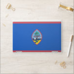 """HP laptop skin with flag of Guam, USA<br><div class=""""desc"""">Patriotic and elegant HP laptop skin with flag of Guam State,  United States of America. This product its customizable.</div>"""