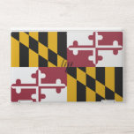 """HP laptop skin with flag of Maryland, USA<br><div class=""""desc"""">Patriotic and elegant HP laptop skin with flag of Maryland State,  United States of America. This product its customizable.</div>"""