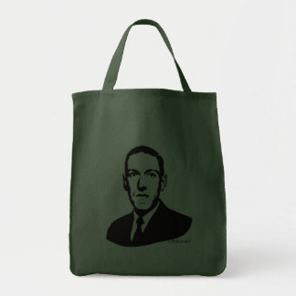 HP Lovecraft Portrait Canvas Bags