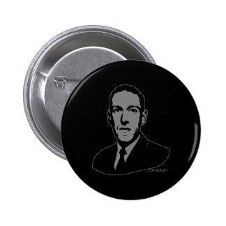 HP Lovecraft Portrait Button