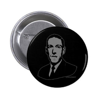 HP Lovecraft Portrait Pinback Button