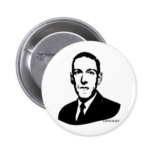 HP Lovecraft Portrait Pins