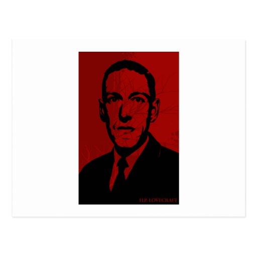 HP Lovecraft Portrait Postcard