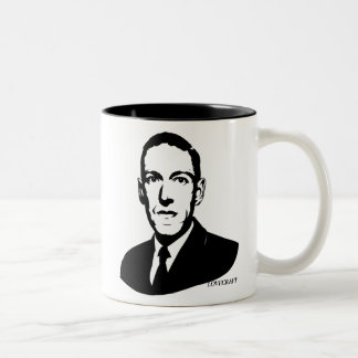 HP Lovecraft Portrait Two-Tone Coffee Mug
