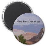HPIM6736, God bless America! Refrigerator Magnets