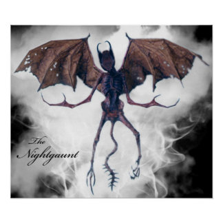 HPL's Nightgaunt Poster
