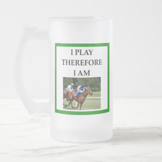hprse racing frosted glass beer mug