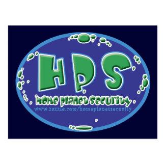 HPS - home planet logo postcard