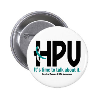 HPV Awareness 1 2 Inch Round Button