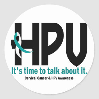HPV Awareness 1 Classic Round Sticker