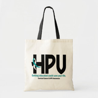 HPV Awareness 2 Budget Tote Bag