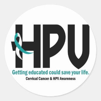 HPV Awareness 2 Classic Round Sticker