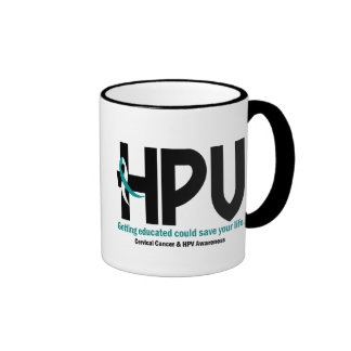 HPV Awareness 2 Ringer Coffee Mug
