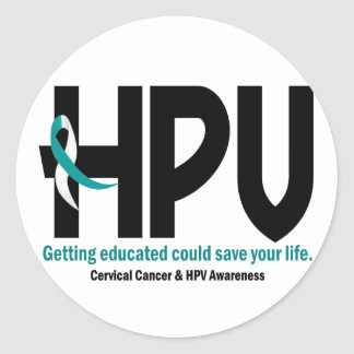 HPV Awareness 2 Classic Round Sticker