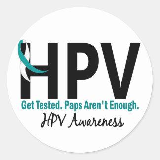 HPV Awareness 4 Classic Round Sticker
