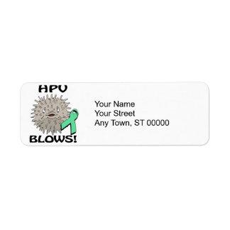 HPV Blows Awareness Design Return Address Label