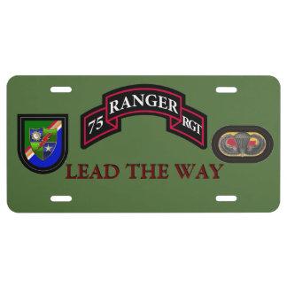 HQ RANGER REGIMENT LICENSE PLATE