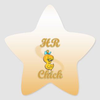 HR Chick Star Sticker