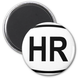"""HR"" Croatia 2 Inch Round Magnet"