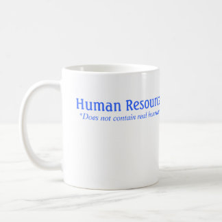 HR does not contain real humans Classic White Coffee Mug
