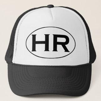 HR Hampton Roads Black and White Oval Logo Trucker Hat