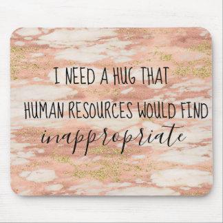 HR Human Resources Hug Office Work Humor Mouse Pad