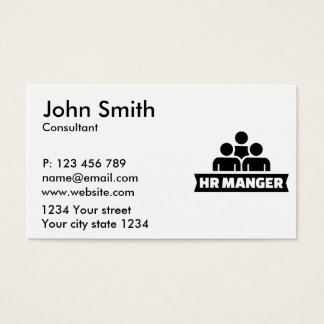 HR Manager Business Card