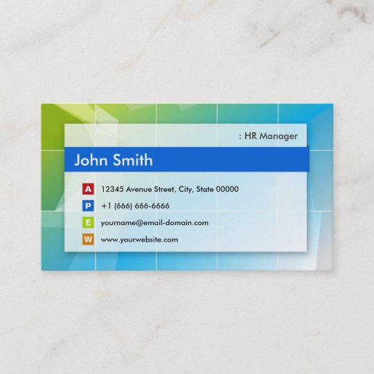 Hr manager modern multipurpose business card zazzle hr manager modern multipurpose business card colourmoves