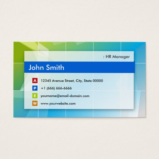 Hr manager modern multipurpose business card zazzle hr manager modern multipurpose business card colourmoves Images