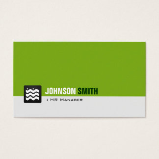 HR Manager - Organic Green White Business Card